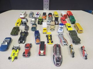 lot of 36 Collectible Cars with Bikes  Cars and Commercial Vehicles  Mostly Metal   5 Plastic