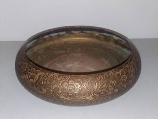 Etched Brass Bowl Made in India