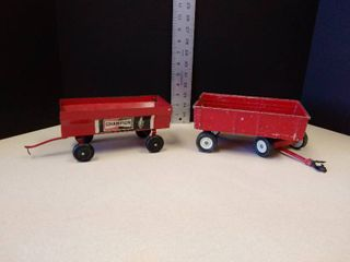 Vintage metal wagons