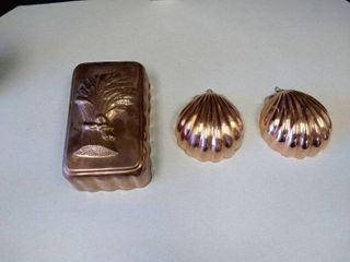 Wheat and shell copper molds