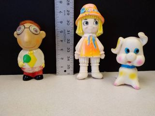 vintage children s squeezable toys