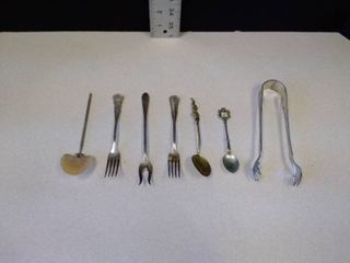 Miscellaneous forks  spoons and Tong
