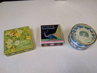 3 vintage face powder