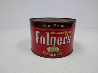 Folger s vintage coffee tin unopened