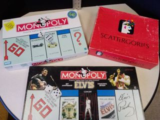 Monopoly and Elvis Monopoly and scattegories