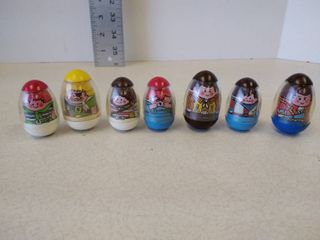 Weeble wobble people  set of 7