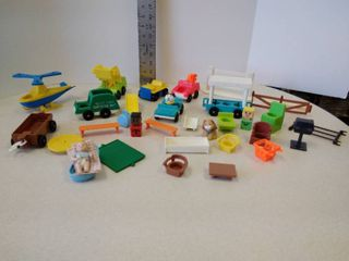 lot of miscellaneous children s play items  mainly Fisher Price