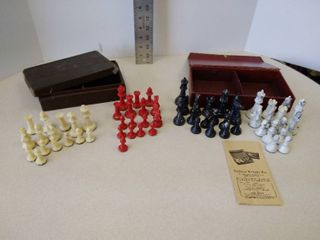 Drueke chess pieces  Gallant Knight company chess pieces