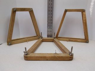 3 tennis racket wood press