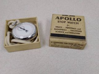 Apollo stopwatch box with a PIC stopwatch inside