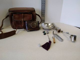 Minolta camera with bag and accessories