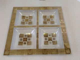 Georges Briard four part serving tray
