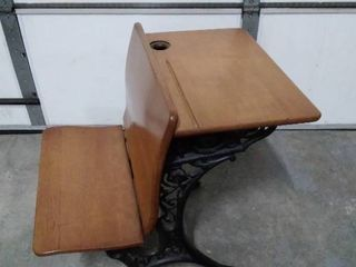 Superior Automatic Wood Iron Desk with ink well