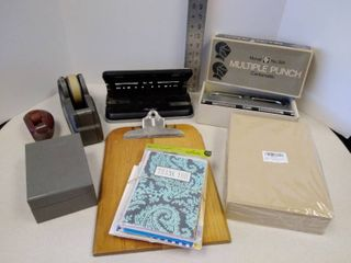 lot of miscellaneous office supplies  2