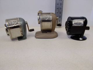 lot of 3 pencil sharpeners