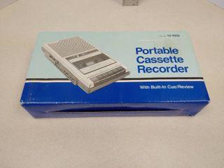 Realistic portable cassette recorder