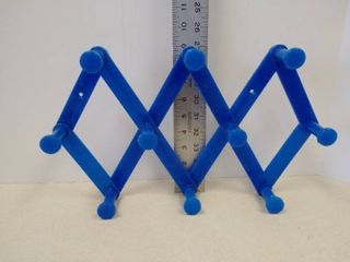 Blue expandable hooks plastic