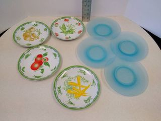 taste Setter by Sigma plates and set of four blue plates