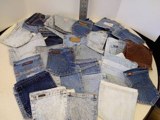 lot of jean pockets