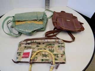 lot of purses and bags