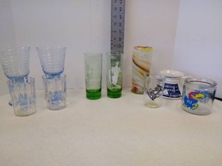 lot of miscellaneous glassware