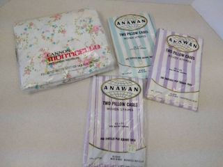 Vintage sheet and pillowcases