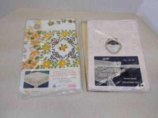 2 vintage tablecloths