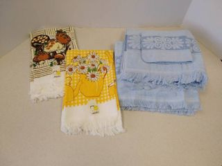 Vintage dish towels and bath towels