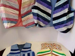 4 handmade vests