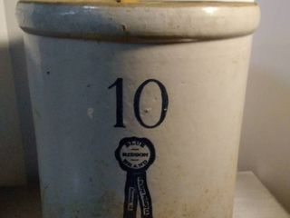 BlUE RIBBON BRAND 10 Buckeye Pottery Co container