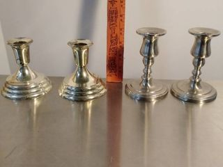 Steed candle holders and FB Rogers candle holders