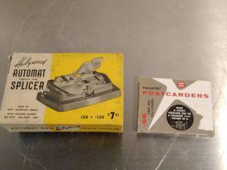 Hollywood Auto film splicer and POlAROID Postcarders