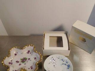 Napco China painted bowl and Bernardaud limoges painted bowl