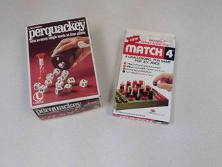 Perquackey and Match 4 games in boxes