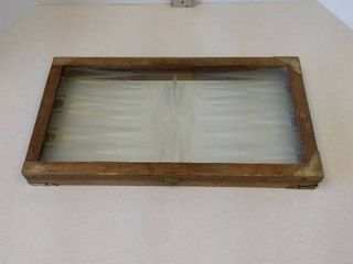 Glass backgammon gameboard