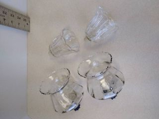 Clear glass sconce peg candle holders 5  and 4  decorative only