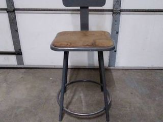 Utility metal shop chair