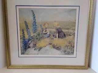 Hans Andersen Brendakilde Print Two Young Girls 1924