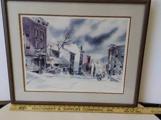 Framed Robert Fabe Print   March Morning