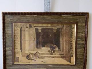 Cheetah print framed