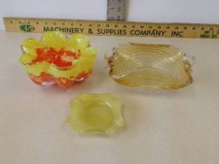 Vintage glass ash trays