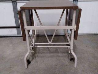 Drop leaf typewriter table   desk  metal stand