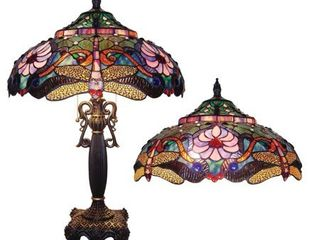 Tiffany style Bronze Dragonfly Table lamp  Retail 279 99