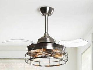 Industrial 36 in Satin Nickel 3 Blade Ceiling Fan  Retail 156 49