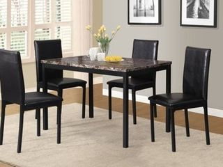 TABlE ONlY Citico Metal Dinette Table with laminated Faux Marble Top  Black  Retail 245 99