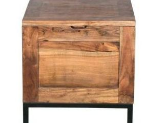 Chest Handmade Trunk Rustic Industrial Side Table  Retail 321 99