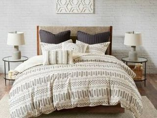 The Curated Nomad Natoma Cotton Jacquard 3 piece Comforter Set  Retail 97 49