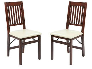 Hacienda Mission Back Folding Chair 2 Pack  Cream