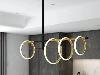 Glow s Avenue 4 light loop Ring linear Chandelier  Retail 191 49