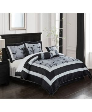 Grand Avenue Orchid Silver 7 piece Bedding Comforter Set